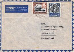 KUT Kenya Tanganyika Uganda 1939? - 2 Sondermarken Auf LP-Brief Von Tabora > Zürich - Kenya, Uganda & Tanganyika