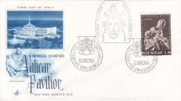 Vatican City 1964 Vatican Pavillion Souvenir Cover - Vatican
