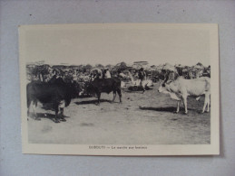Cartolina/postcard Djibouti (Gibuti) Le Marché Aux Bestiaux - Gibuti