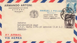 PERU 1949? - 2 Fach Frankierung Auf LP-Brief V.Lima > Paris - Peru