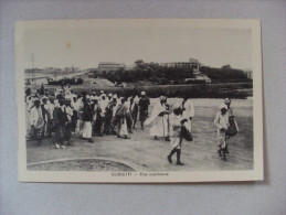 Cartolina/postcard Djibouti (Gibuti) Fete Musulmane - Gibuti