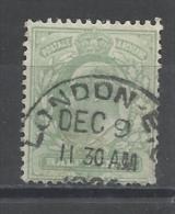 GRANDE-BRETAGNE - N°YT 106 OBLITERATION LONDON EC A ETUDIER ? - 1902/1910 - COTE YT: 1.00€ - Used Stamps