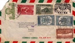 MEXICO 1946 - 7 Fach MIF (Sondermarken) Auf LP-Brief > Zürich - Mexiko