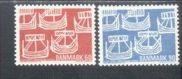 Skandinavien-Gemeinschaftsausgaben Dänemark 475-6 Norden / Antike Segelboote MNH  Postfrisch ** - Emissions Communes