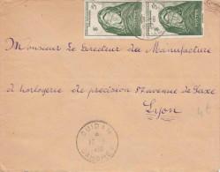 MAURITANIE - 2 Fach Sondermarken Frankierung Auf Brief V.Dahomey > Lyon - Mauritanien (1906-1944)