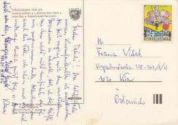 CESKOSLOVENSKO - Sondermarke Auf Ak Trencianske Teplice