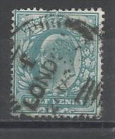 GRANDE-BRETAGNE - N°YT 106a OBLITERATION LONDON E? A ETUDIER - 1902/1910 - COTE YT: 1.00€ - Used Stamps
