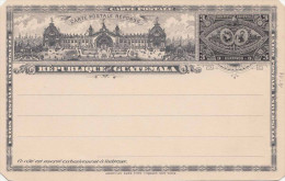 GUATEMALA 1897 - 3 Centavos Ganzsache ** Auf Bild-Postkarte - Guatemala