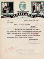 SV ZH ZÜRICH 1922-6-19 Fridolin HEFTI & Co Rechenmaschinen Mit Kontrolle TIM - Suisse