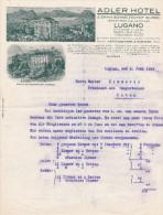 SV TI LUGANO 1926-6-5 ADLER & ERIKA SCHWEIZERHOF Hotel - Suisse