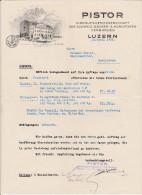 SV LU LUZERN 1933-4-13 PISTOR Einkaufs-Genossenschaft Des Schweiz. Bäker & Konditoren Verbandes - Suisse