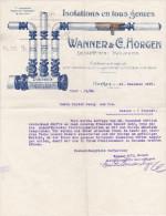 SV ZH HORGEN 1907-12-21 WANNER & CIE Isolations En Tous Genres - Suisse