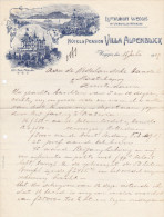 SV LU WEGGIS 1907-7-15 Villa Alpenblick Hotel & Pension - Suisse