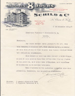 """SV NE LA CHAUX DE FONDS 1925-12-22 SCHILD & Cie Manufacture De Montres """"8 Jours"""" - Switzerland"""