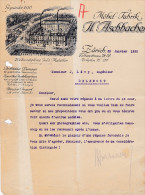 SV ZH ZÜRICH 1923-1-22 H. Aschbacher Möbel Fabrik - Suisse