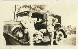 3 PHOTOGRAPHIES AUTOMOBILE  AMERICAINE FORD CHEVROLET ?? HOMMES CALOT MILITAIRE CACHET PHOTOGRAPHE   WEST PALM BEACH - Automobili