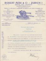 SV ZH ZÜRICH 1917-12-4 Robert Aebi Machines Outils  Construction Chemin De Fer Et Pont Et Chaussöes - Suisse