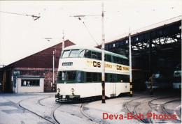 Tram Photo Blackpool Corporation Tramways Balloon Car 701 Tramcar Rigby Rd Depot - Trains