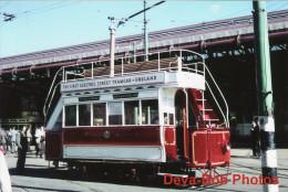 Tram Photo Blackpool Corporation Tramways Original Car 1 Tramcar Rigby Rd Depot - Trains