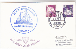 1982  SAILING SHIP COVER  ´ MSV NORDLAND ´ BALTIC SHIPPING , KIEL GERMANY  Stamps - Ships