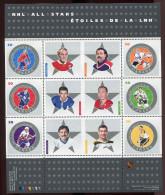 Canada **   N° 2120 à 2125   -  Ligue Nationale De Hockey -  Feuille - - Blocs-feuillets