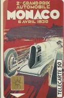 TELECARTE MONACO 2 EME GRAND PRIX AUTOMOBILE 6/4/1930  AFFICHE CREE PAR FALCUCCI AUTOMOBILE CLUB MONACO - Monaco