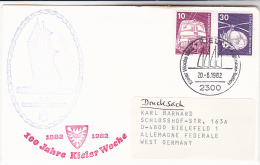 1982 TALL SHIPS COVER SAILING SHIP ´ LA BELLE POULE ´ KIEL GERMANY  Stamps - Ships