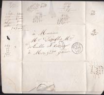 France - Sur Lettre Taxée Obl. - 1856 - CaD Preignac / Pour Morizes - 1849-1876: Classic Period