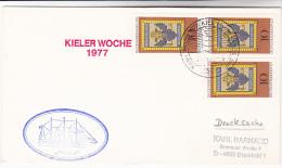 1977 TALL SHIPS COVER SAILING SHIP ´ ARIADNE ´ KIEL Germany Stamps - Ships