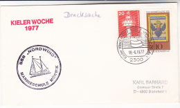 1977 SAILING SHIP COVER ´ SSB NORWIND ´ KIEL Germany Stamps - Ships