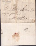 France - Sur Lettre Taxée Obl. - 1864 - CaD Auch / Lectoure / Contributions Directes - 1849-1876: Période Classique