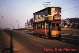 Tram Photo Glasgow Corporation Tramways Standard Hex Dash Tramcar Car 1051 - Trains
