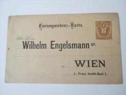 Österreich Ganzsache P 43 Ungebraucht Mit Adresszudruck: An Herrn Wilhelm Engelsmann Sr. Wien - Entiers Postaux