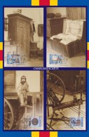ALAND 1999 FOLK ART OFFICIAL MAXICARDS 1st. DAY CANCEL  Nos. 27-30 - Aland
