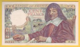 BILLET FRANCAIS - 100 Francs Descartes 15.5.1942 SPL - 100 F 1942-1944 ''Descartes''