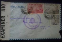 España 1942. Correo Aereo De Vigo A San Luis. Censura. - Marcas De Censura Nacional