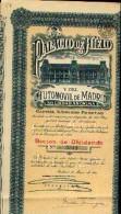 « Palacio De HIELO Y Del Automovil De MADRID SA »  Accion De Dividendo (1921) - Automobile