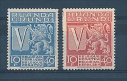 RUANDA-URUNDI GEA 1942 ISSUE COB 148/49 LH