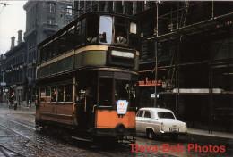 Tram Photo Glasgow Corporation Tramways Standard Hex Dash Tramcar Car 83 - Trains