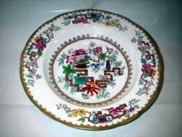 Prachtig Porselein Sierbord -  Chinees - Genummerd En Gesigneerd - Diameter 24 Cm - Hand Painted - Aziatische Kunst