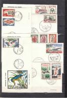 TCHAD - Lot De FDC ( 1er Jour ) 37 Enveloppes De 1960 à 1965 - Aucun Double - Thèmes : Faune - Oiseaux - Sport ..... - Tchad (1960-...)