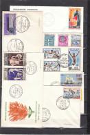 GABON - Lot De FDC ( 1er Jour ) 55 Enveloppes - Aucun Double - De 1960 à 1965. Thèmes : Faune - Oiseaux - Sport ..... - Gabon (1960-...)
