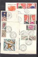 CONGO - Lot De FDC ( 1er Jour ) 44 Enveloppes -aucun Double- De 1960 à 1965. Thèmes : Faune - Oiseaux - Sport ... - FDC