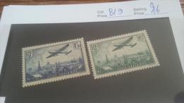 LOT 213139 TIMBRE DE FRANCE NEUF* N�8/9 VALEUR 16 EUROS