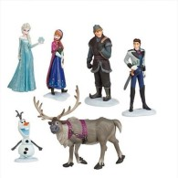 Disney Frozen Anna, Elsa, Kristoff, Hans, Sven, Olaf - Plastic Action Figure 6pcs Set - Disney