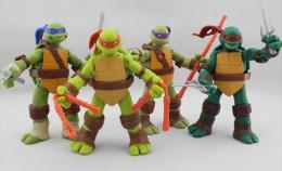 Teenage Mutant Ninja Turtles - Leonardo Michelangelo Donatello Raphael - Plastic Action Figure 4pcs Set - Teenage Mutant Ninja Turtles