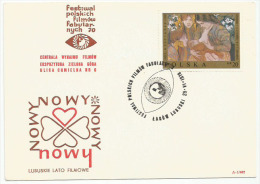 Poland Pologne, Polish Film Festival In Lagow Lubuski. 1970. Cover With Printed Movie Title.