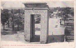 PC Egypte - Karnak - Avenue Des Beliers Et Propylone De Ptolemee - 1908 (7139) - Luxor