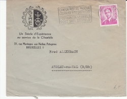 BELGIUM USED COVER 18/06/1962 COB 1067 BRUXELLES VERS ANDLAU-AU-VAL FRANCE - 1953-1972 Bril
