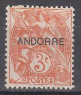 Andorra- French    Scott No. 3   Unused Hinged    Year   1930 - Neufs